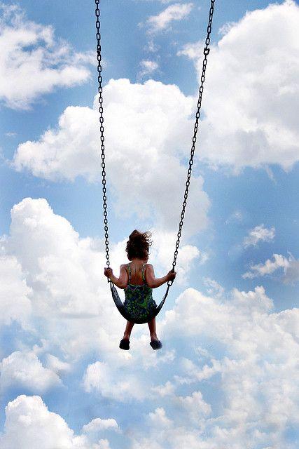 A cloud swings